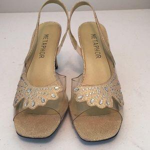 Metaphor Sasha healed slingback shoes